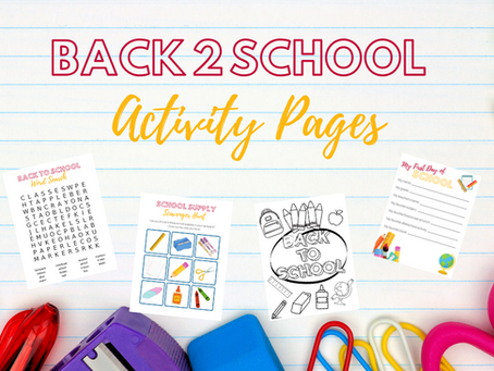 Fun Back-to-School Activity Pages