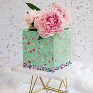 Speckled Square Cake