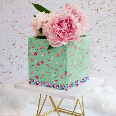 Speckled Square Cake