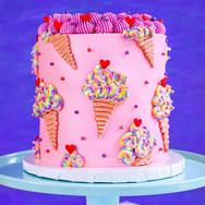Pink Ice Cream Cake TheFlourGirl_