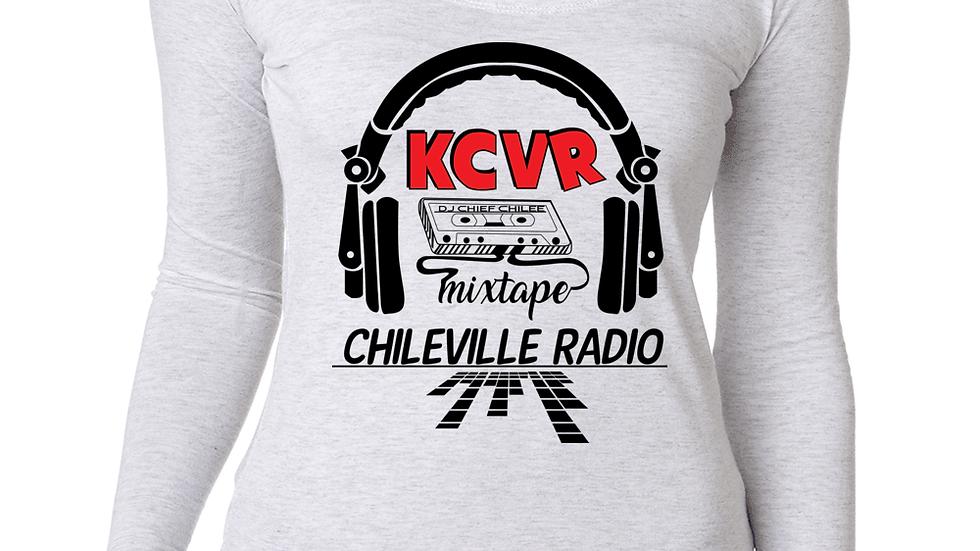 KCVR Ladies' Triblend Long-Sleeve Scoop