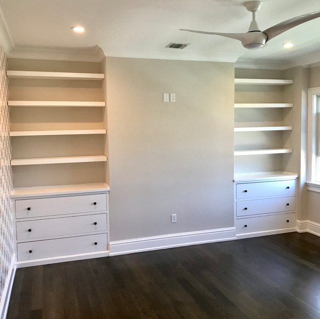 Custom Dressers with Floating Shelves