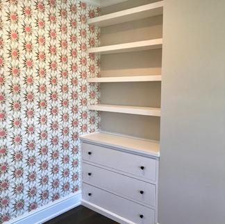 Custom Dresser with Floating Shelves