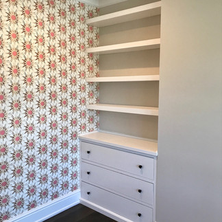 Custom Dresser with Floating Shelves