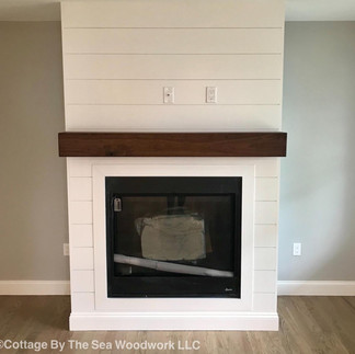Walnut Fireplace Mantel