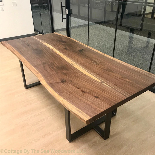Live Edge Walnut Conference Table