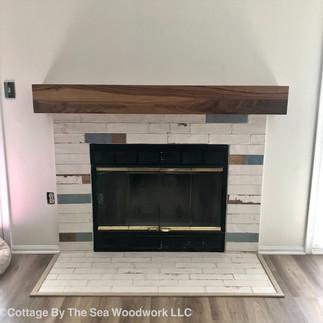 Walnut Fireplace Mantel Beam