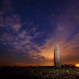 The Menhir du Champ Dolent, sacred site, Dol de Bretagne, Brittany, France.