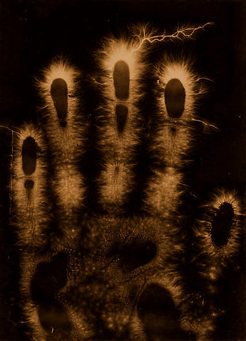 Kirlian image of a hand