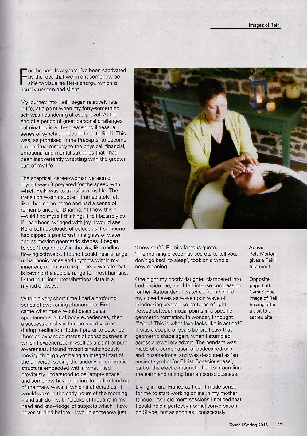 Article in Reiki Association Magazine