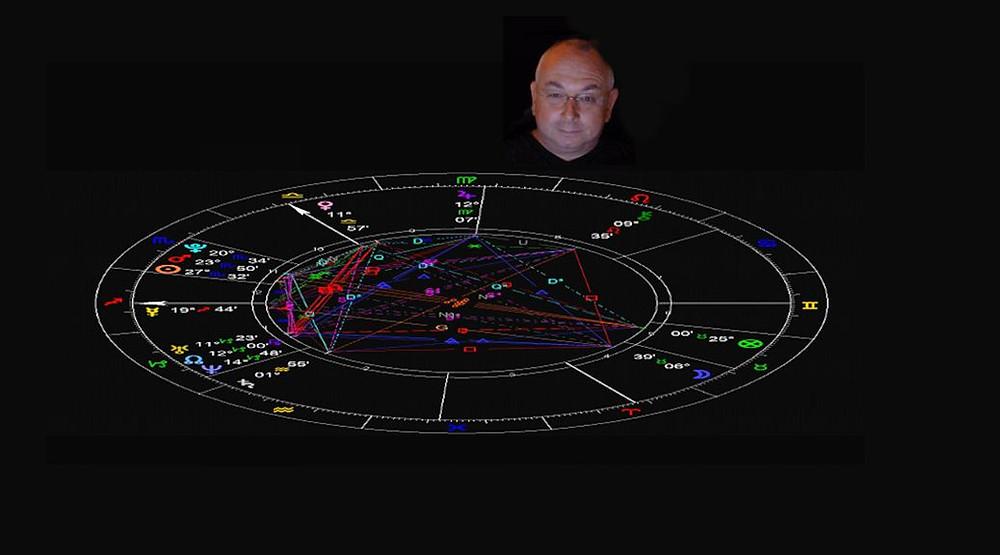 Birth chart of Astrologer, David Charles Rowan