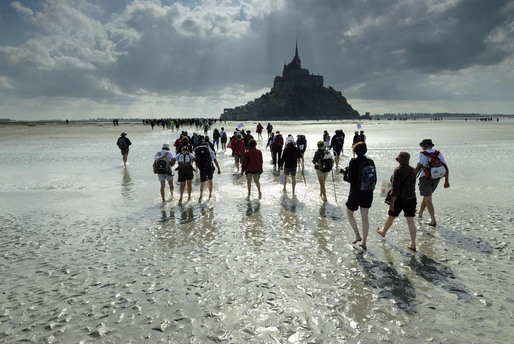 Crossing Mont St Michel Bay