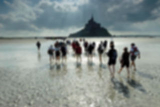 It's In You retreats in the Bay of the Mont Saint Michel, France.