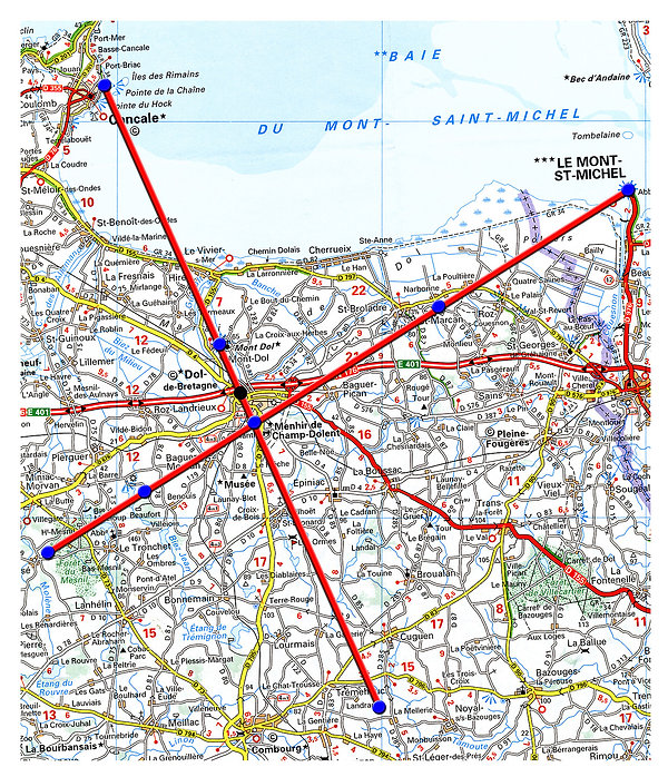 Ley lines and alignments, Bay of the Mont Saint Michel
