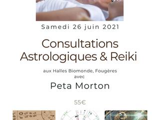 Consultations Astrologiques & Reiki aux Halles Biomonde, Fougères