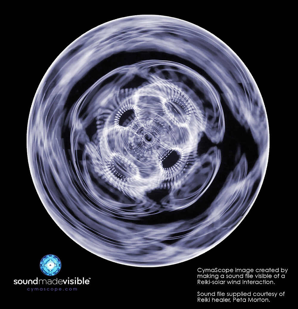 Lucy - the first CymaScope image from the sounds of an online Reiki session