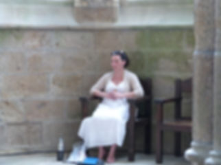 Meditation at the Mont Saint Michel. Time for inner contemplation at It's In You retreat, France.