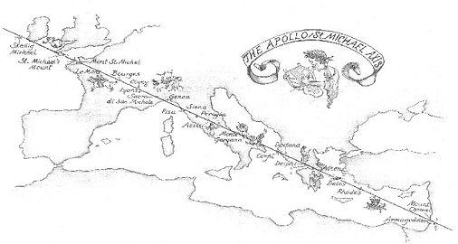 The Apollo/Saint Michael Axis through Europe
