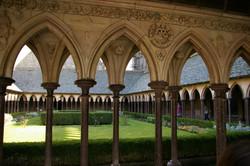 Cloisters, Mont Saint Michel abbey