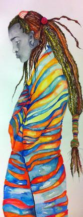 _Maasai ceremonial Dancer__36_x48_ Marth