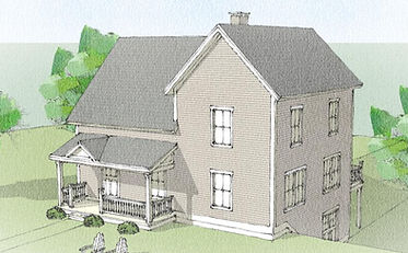 The Huntington Timber Frame 24' x 32' cape w 32' x 22' wing 2675 sf - 4 bedrooms - 2 1/2 bath