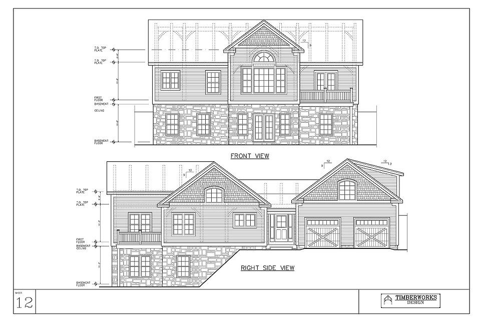 Timber Frame 48' x 24' ranch w/ 16' x 12' bumpout - 2870 sf - 4 bedrooms - 3 1/2 bath