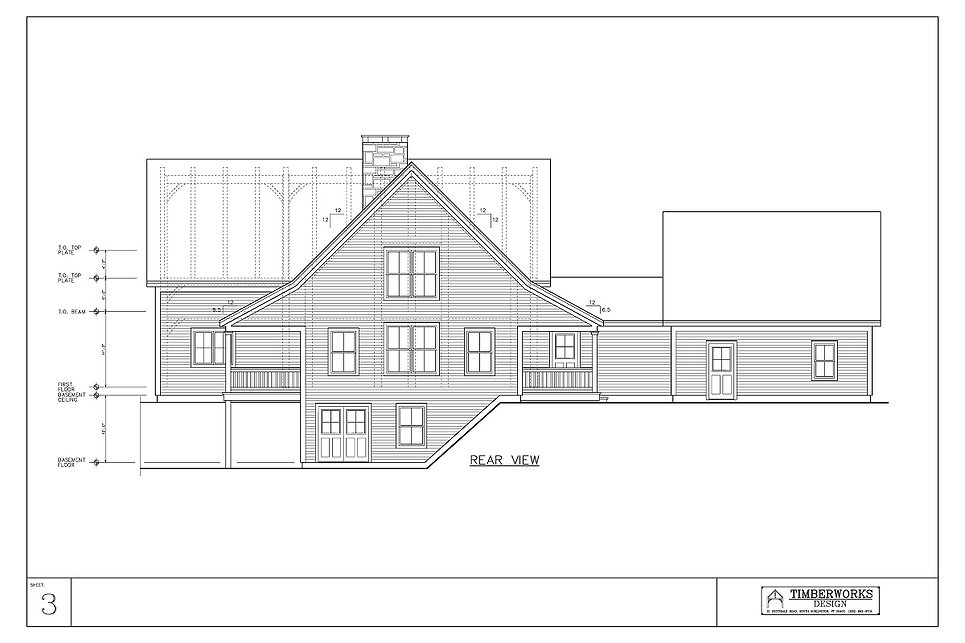 Timber Frame 45' x 26' cape  w/ 25' x 20' wing - 3037 sf - 4 bedrooms - 2 1/2 bath