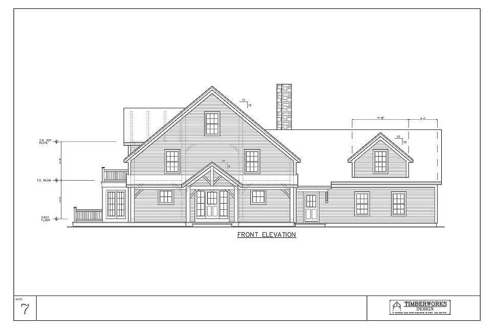 Timber Frame 38' x 40' cape - 3310 sf - 3 bedroom - 1 1/2 bath