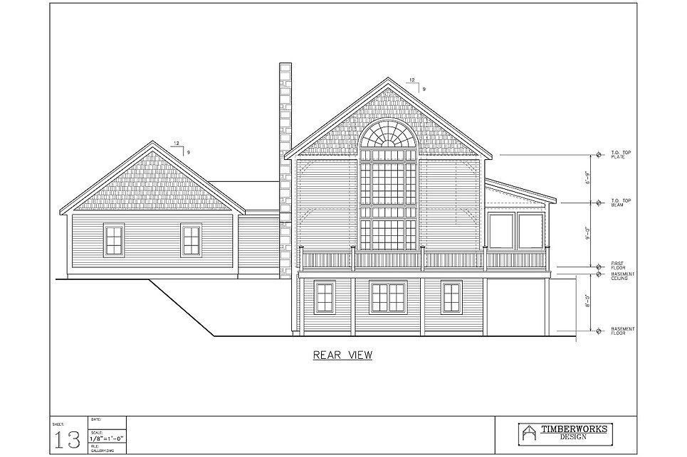Timber Frame 26' x 30' cape w/ 9' x 16' wing 2820 sf - 3 bedroom - 3 1/2 bath