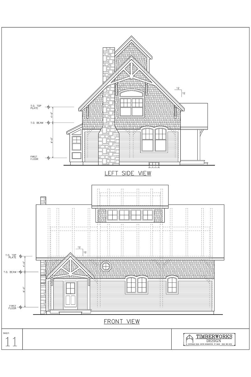Timber Frame 40' x 28' cape - 2260 sf - 3 bedroom - 2 bath