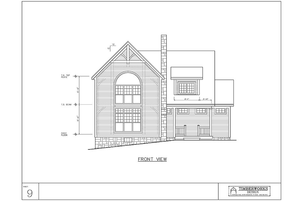 Timber Frame 20' x 60' colonial - 3363 sf - 4 bedrooms - 2 1/2 bath