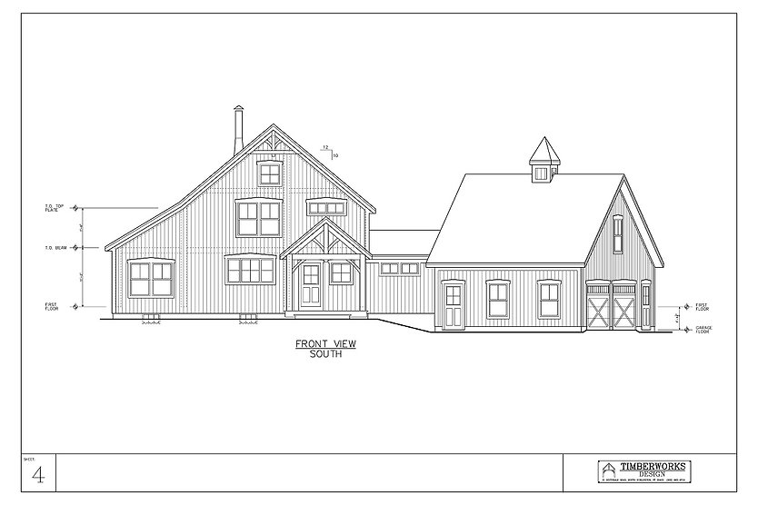 Timber Frame 28' x 36' cape w/ 10' x 20' wing - 2765 sf - 3 bedrooms - 2 1/2 bath