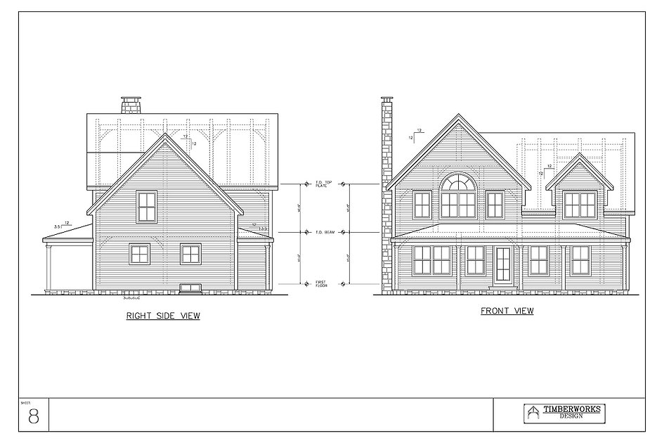 Gallery 8 Elevation | Timber Frame House Plan