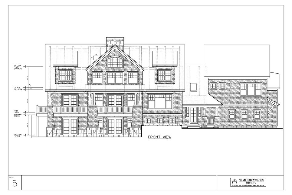 Timber Frame 52' x 32' cape w/ 20' x 4' bumpouts - 4546 sf - 4 bedroom - 3 1/2 bath