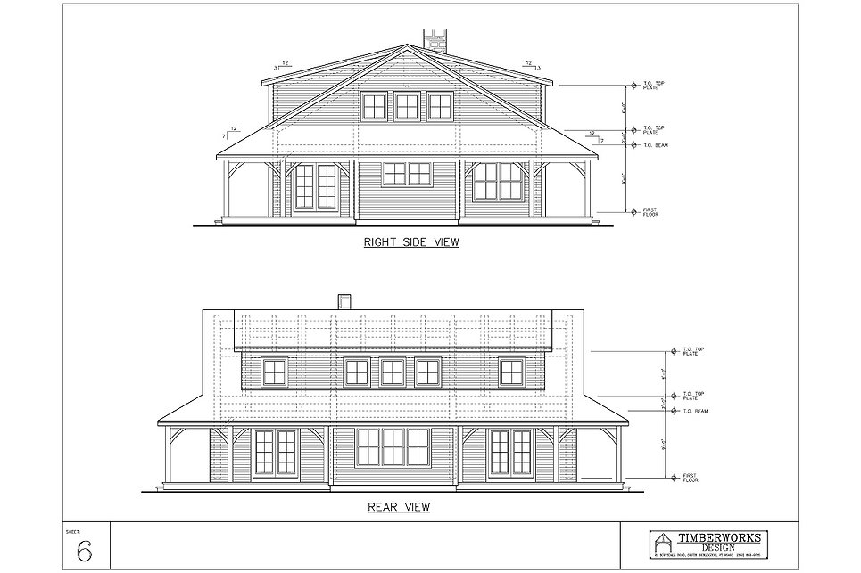 Timber Frame 43' x 33' cape - 3078 sf - 3 bedrooms - 2 1/2 bath