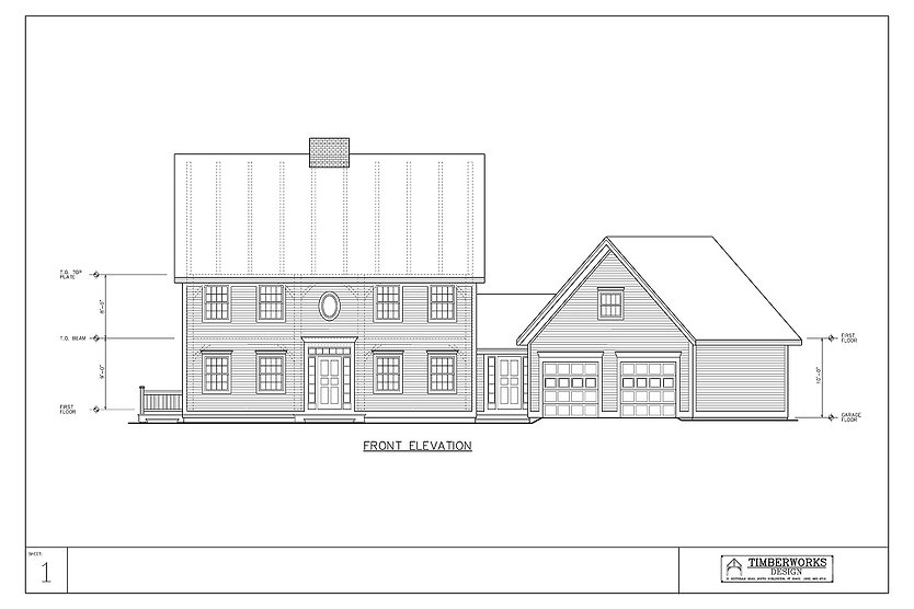 Gallery 1 Elevation | Timber Frame House Plan
