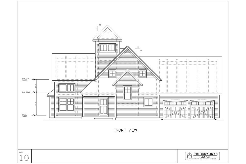 Timber Frame 2947 sf - 2 bedroom - 2 1/2 bath