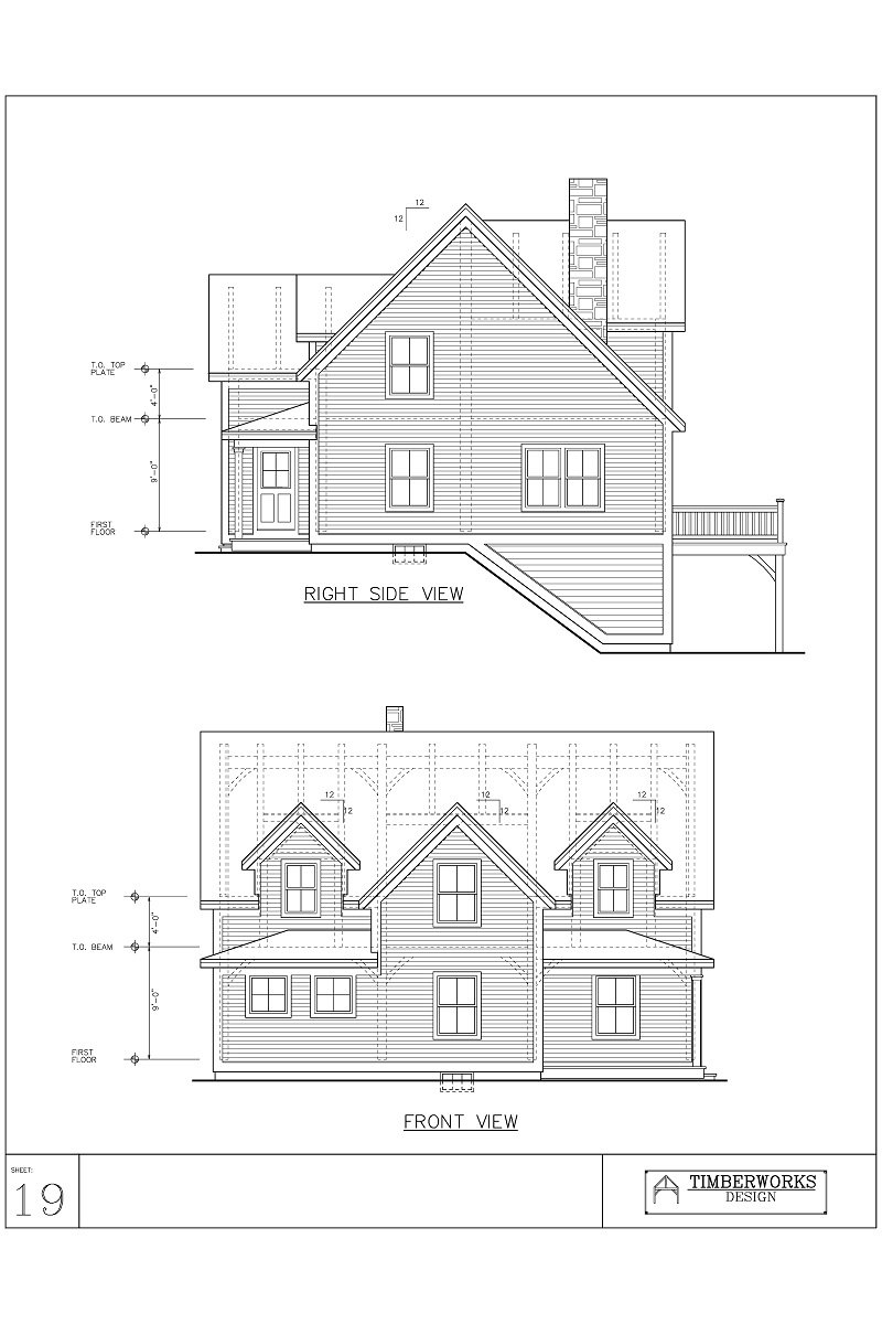 Timber Frame 42' x 24' cape - 2765 sf - 2 bedrooms - 2 bath