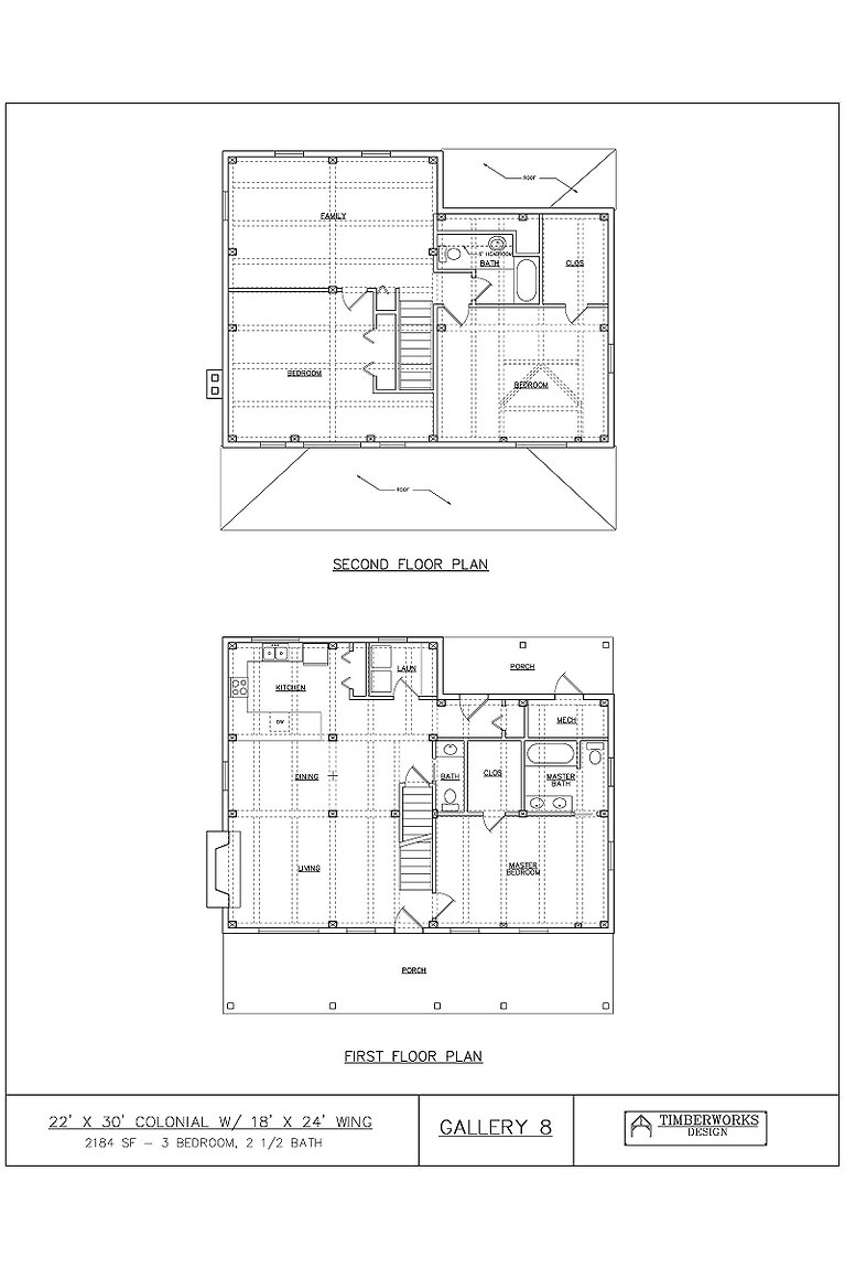 Gallery 8 Floor Plan | Timber Frame House Plan