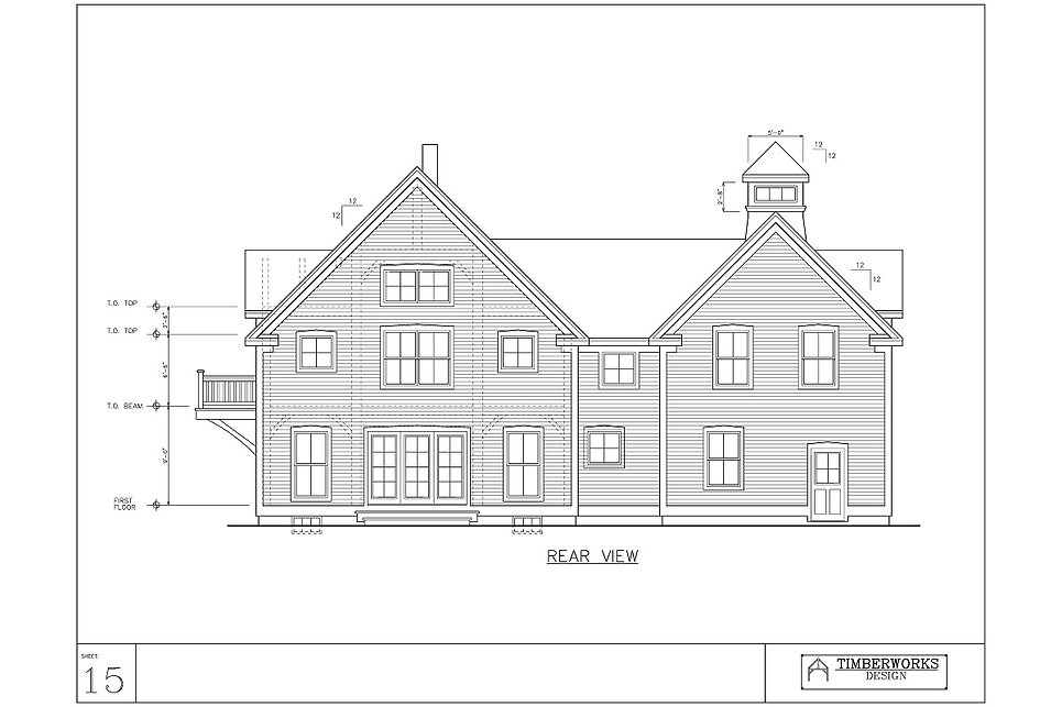Timber Frame 28' x 38' cape w/ 21' x 29' wing - 3488 sf - 3 bedroom - 3 bath