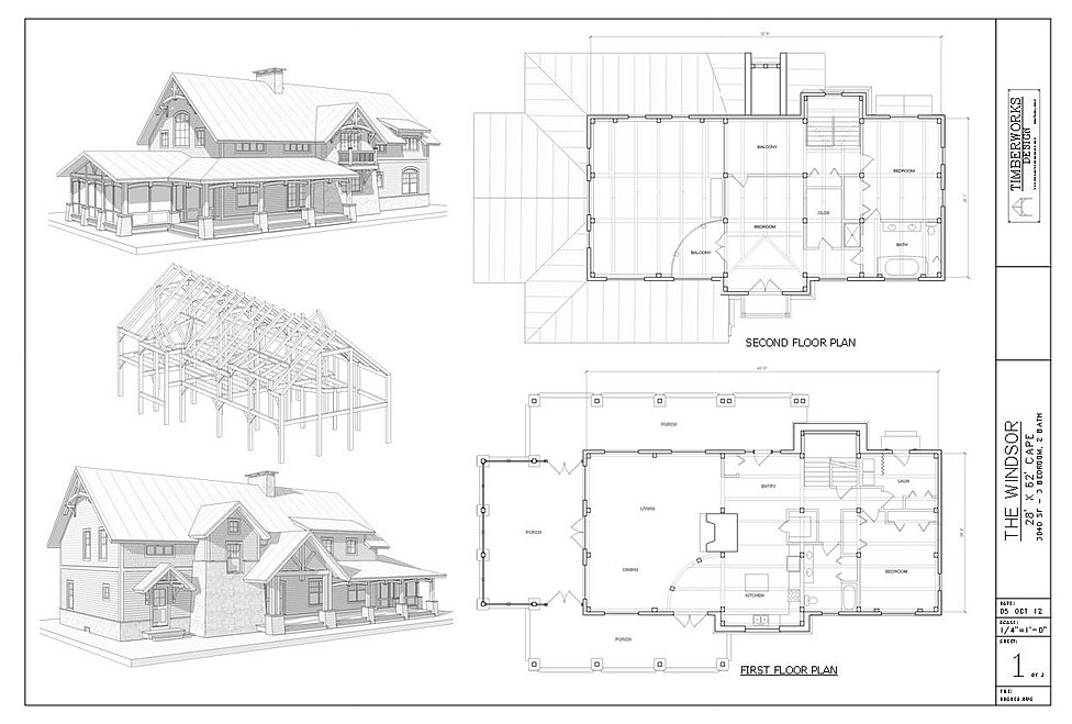 The Windser Timber Frame House Plan