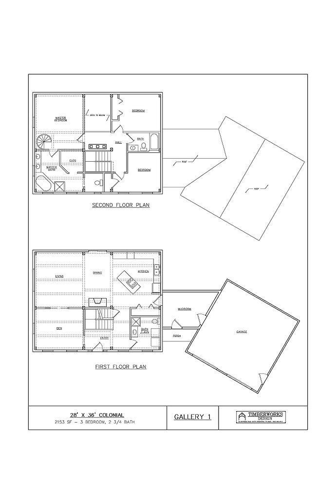 Gallery 1 Floor Plan | Timber Frame House Plan