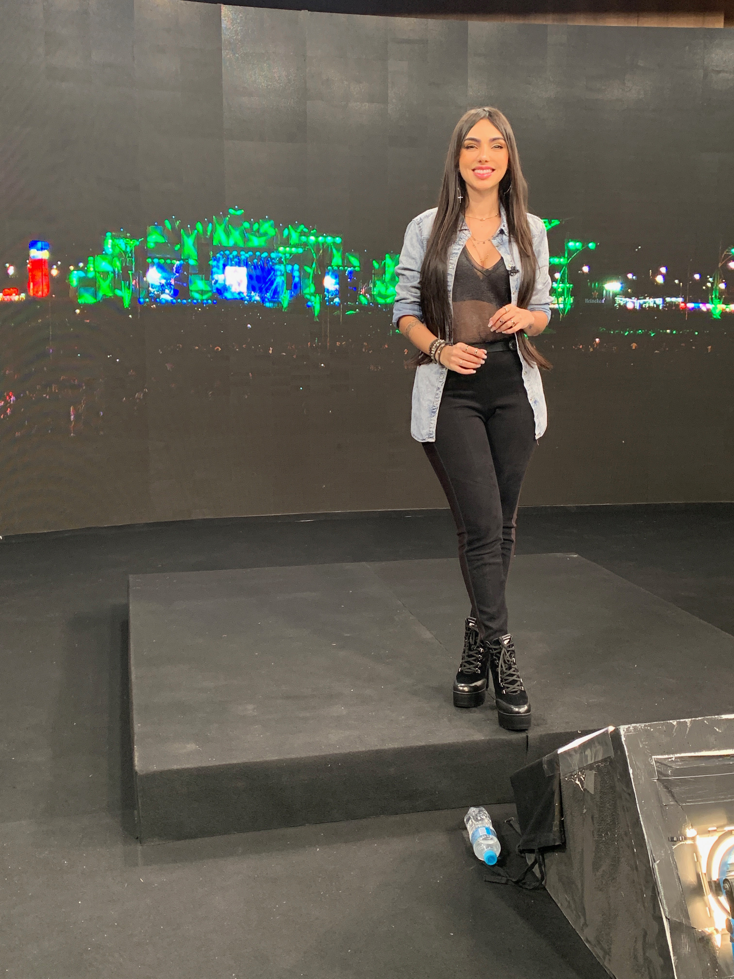 apresentando o Rock in Rio na Globo