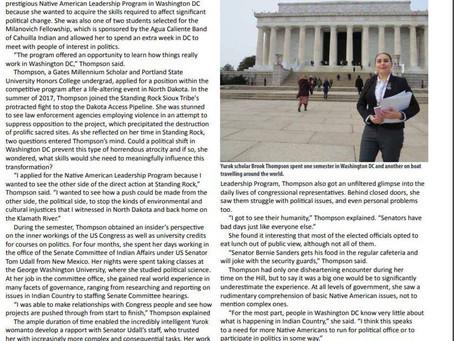 "Yurok Newsletter January 2018 ""Yurok Studies in Washington, DC, at Sea"""