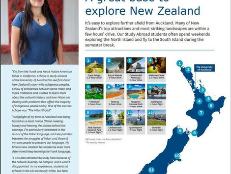 """University of Auckland Study Abroad 2017 Magazine """"A Great Base to Explore New Zealand"""""""