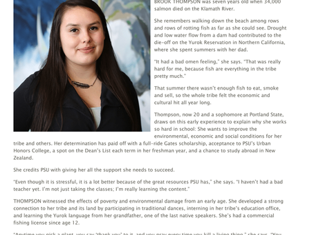 """2016 PSU Magazine: """"Gates Scholar is Committed to Improving the Lives of Her People"""""""
