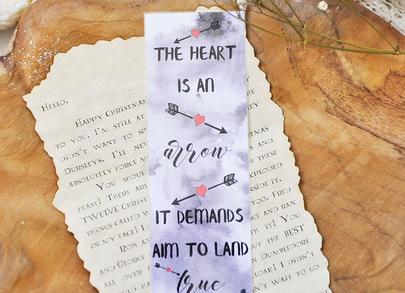 The Heart Is An Arrow It Demands Aim To Land True Laminated Bookmark