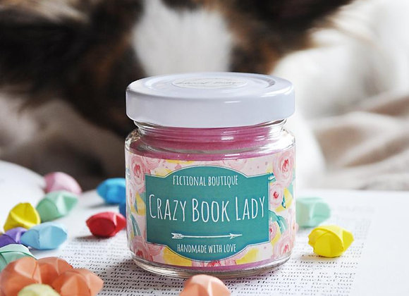 Crazy Book Lady Candle