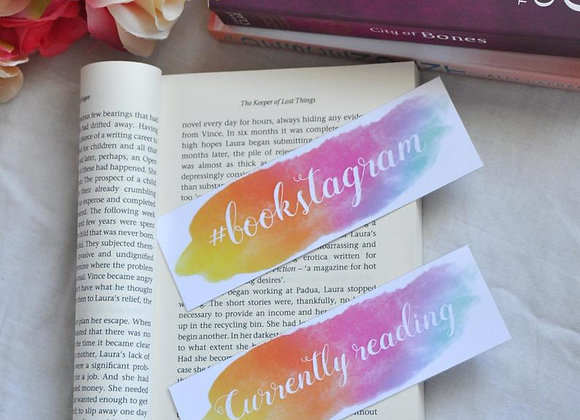 Currently Reading Laminated Bookmark