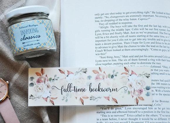 Full-time Bookworm Laminated Bookmark